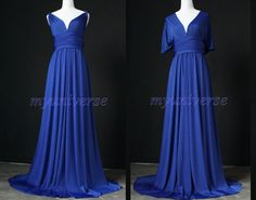 Navy Blue Bridesmaid Dress Infinity Dress Full Length Wrap Convertible Dress Formal Evening Dress. $99.00, via Etsy.