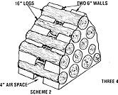 THE THERMAL EFFICIENCY OF CORDWOOD WALLS