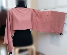 Scarf shrug blouse and poncho in natural silk by SlowFashionSilk