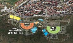מפה רמת בית שמש משקפיים - Map of Ramat Beit Shemesh Mishkafayim.