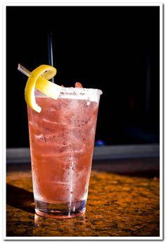 Blushing Geisha at RA Sushi - Cold lemonade mixed with Skyy Raspberry vodka, raspberry liqueur & a splash of lemon-lime soda; looks innocent but look again, she might not be