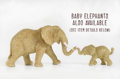 Items similar to Mama African Elephant Safari Gold Glitter Critter for Jungle Baby Showers, Nursery Decor, Sparkly Wedding Decorations, Fun Table Centerpiece on Etsy Glitter Critters, Baby Shower Decorations, Wedding Decorations, Babyshower Decor, African Elephant, Baby Elephant, Table Centerpieces, Gold Glitter, Nursery Decor
