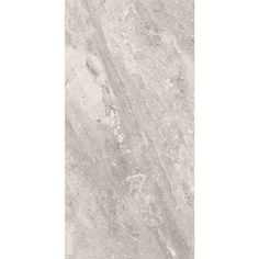 Style Selections TRAILDEN Gray Ceramic Travertine Floor and Wall Tile (Common: 12-in x 24-in; Actual: 11.75-in x 23.52-in)