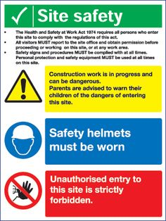 Self Build: Construction Site Safety tips Safety Rules, Safety Tips, Construction Safety, Safety Posters, Website Design, Logo Design, Injury Prevention, Yoga, Workout