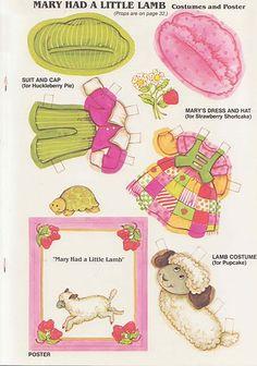 TODORECORTABLES PAPER DRØMME: RECORTABLES jordbær tærte, farvning, flashcards kasser og FØDSELSDAG