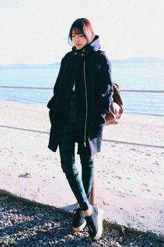 Basic Pocket Hooded Coat