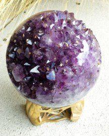 Amethyst Geode Sphere.  One of my favorite stones.