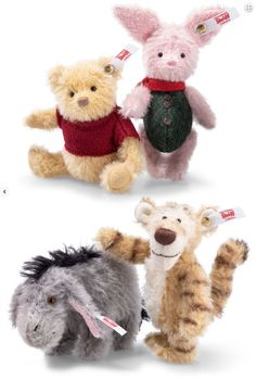 Artist Steiff Christopher Robin Winnie The Pooh Mohair Set Of 4 Pieces 355417 With Traditional Methods