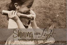 Shining His Light - Lessons for kids on being a light in the darkness! This blog is awesome! Love all her Bible lessons for kids!