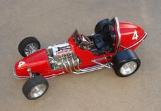 1/4 scale car with working scale motor, Tether car racing. Really cool to watch!
