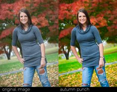 Autumn Punch Lightroom Preset is a preset to boost color saturation without killing your subjects skin tone.
