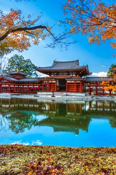 The Byodo-in-Temple is one of the most beautiful and recognisable temples in all of Kyoto #Japan