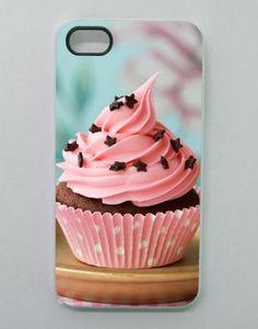 "Cover per iPhone4/4S/5 bordino bianco/trasparente ""Love Cupcake""! : Autres accessoires par gattablu-lingerie"