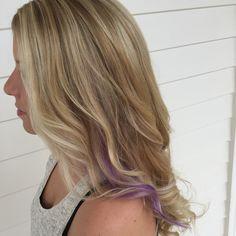 Purple Peekaboo And Highlights Hair By Kenna Mac Underlights