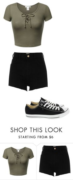 """Untitled #9"" by mziecellerino ❤ liked on Polyvore featuring River Island and Converse"