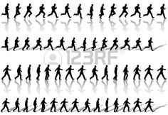 Illustration about A business man runs power walks to success in animation sequence frame loops, with reflection and shadow. Illustration of march, power, businessman - 5131169 Animation Storyboard, Animation Reference, Drawing Reference, Animation Walk Cycle, Walking Animation, Principles Of Animation, Pixel Art Templates, Frame By Frame Animation, Anatomy Poses