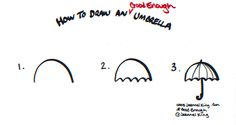 How To Draw A Good Enough Umbrella - drawing tutorial image by Jeannel King