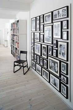 IKEA Ideas on Pinterest (do you have a large wall that could handle all ten of your artist prints? it would be visually heavy if not steal the show from the rest of the room)