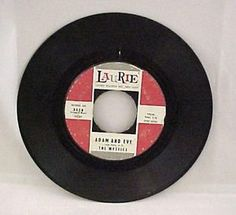 "Laurie Records ""The Mystics"" Adam & Eve/Hushabye 45 RPM Record 3028"