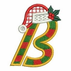 "Christmas Holly ""B"" - 4x4 