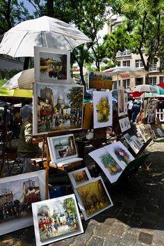 Paintings at Place du Tertre ~ Montmartre ~ Paris. One of my favorite places in Paris! Paris France, Oh Paris, I Love Paris, Montmartre Paris, Paris Travel, France Travel, Oh The Places You'll Go, Places To Travel, Beautiful Paris