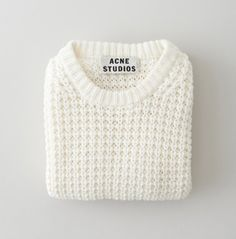 white wool pull-over acne studios