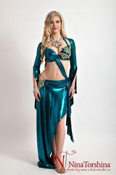 Восточные костюмы для танца живота от дизайнера Нины Торшиной
