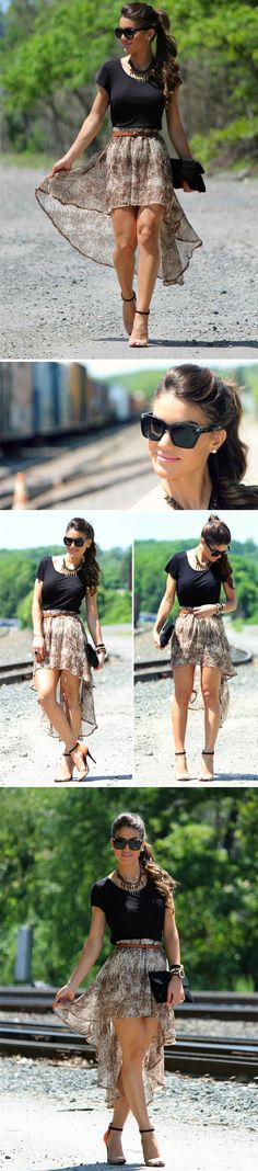 High Low Skirt. #Fashion