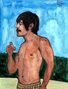 """""""Charles Bronson"""", watercolour and ink on paper, 24 x 32 cm ....... チャールズ・ブロンソン Charles Bronson, Watercolor And Ink, Paintings, Paper, Painting Art, Paint, Painting, Painted Canvas, Drawings"""