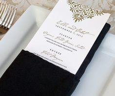 Summer Wedding Menus for Receptions Wedding Reception Menu Wording and Trends | letterpress wedding invitation blog