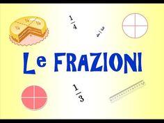 MAPPE per la SCUOLA: LA FRAZIONE, matematica Flipped Classroom, Cooperative Learning, Homeschool Math, Youtube, Kindergarten Math, Fractions, Grammar, Coding, Education