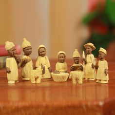 The Holiday Aisle 10 Piece African Themed Nativity Scene Set Nativity Scene Sets, Christmas Nativity Scene, African Christmas, Deer Decor, Nativity Crafts, Seasonal Decor, Holiday Decor, Hand Carved, Carved Wood