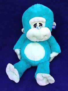 "Giant Goffa Turquoise Monkey Plush Ape Stuffed Jungle Animal New with Tag 32"" #Goffa"