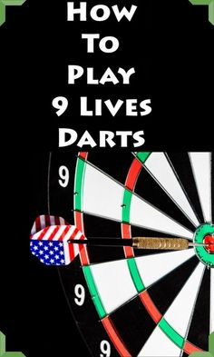 Nine Lives darts is an elimination-style variation of around the clock. Nine Lives can be played with any number of players and is good for players who like to play around the clock but are looking for a bigger challenge. Darts Rules, Darts Game, Some Games, Fun Games, Games To Play, Darts And Dartboards, Multi Game Table, Man Cave Games