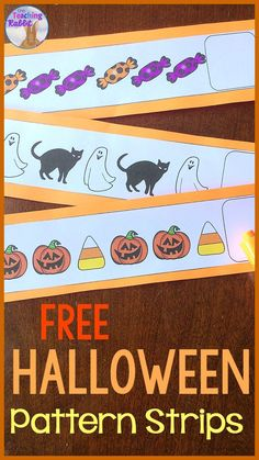 Looking for Halloween math center ideas? Complete each Halloween pattern on the strips with a dry erase marker or draw the next picture on the recording sheet. These can be fun for your kindergarten or first grade math centers or morning tubs! Theme Halloween, Halloween Math, Halloween Patterns, Halloween Activities, Halloween Ideas, Patterning Kindergarten, Kindergarten Freebies, Math Activities For Kids, Educational Activities