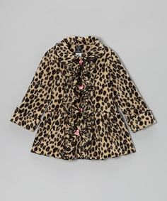 As timeless as it is time-saving, this stylish coat is made from warm, washable fleece with an eye-catching print, bright buttons, roll-up cuffs and an elegantly ruffled front.