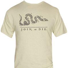 Join or Die T-Shirt-Colonial Era Ben Franklin Novelty Shirt,Join or Die T-Shirt-Colonial Era Ben Franklin Novelty Shirt<br><img Join Or Die Flag, Novelty Shirts, Flag Shirt, S Man, Unisex, Classic T Shirts, Tee Shirts, Colonial, Mens Tops