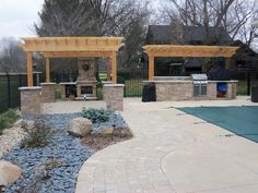 Surround your pool with elegant hardscaping for a high end look year-round!