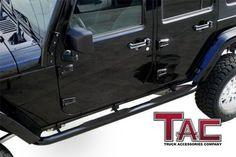 u-Box Jeep JK 4-Door Door Sill Entry Guard PVC Stickers Waterproof in Black Jeep Wrangler JKU Unlimited 2007-2018
