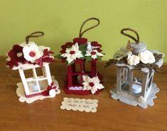 Faroles en fieltro - Dale Detalles Christmas Crafts For Kids, Christmas Design, Felt Christmas, Handmade Christmas, Christmas Holidays, Christmas Ornaments, Craft Stick Crafts, Felt Crafts, Diy And Crafts
