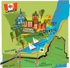 Quebec City map - Jing Jing Tsong