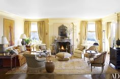 O. J. and Gary Shansby enlisted Andrew Skurman Architects and decorator Suzanne Tucker of Tucker & Marks to transform their San Francisco apartment in a neoclassical style reflective of its Beaux Arts building. In the living room, whose palette is drawn from the painting by Nathan Oliveira and the antique Oushak carpet from Mansour, an 18th-century Spanish mirror hangs above a Louis XV mantel flanked by Napoléon III side tables from Therien & Co. The bergères are upholstered in a Brunschwig…