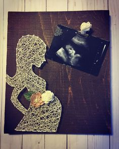 Inspiring String Art Projects Ideas so that Easy do Anytime - Wood Art String Art Diy, String Crafts, Resin Crafts, Hilograma Ideas, Ideas Para, Baby Sonogram, Decoration Shabby, Diy And Crafts, Arts And Crafts