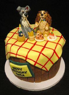 pastel la dama y el vagabundo