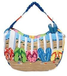 Sun N Sand Coastal Flip Flops Tote Beach Bag 28487. My favorite pick from my 18 Brilliant Beach Totes. affiliate