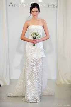 simple wedding dress from Angel Sanchez