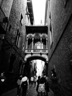 Barrio Gótico #Barcelona #Spain #Photography #BlackAndWhite