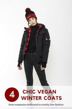 Chic vegan winter coats to keep you warm and looking stylish! Vegan Fashion, Slow Fashion, Ethical Fashion, Fashion Moda, Womens Fashion, Fair Trade Fashion, Eco Friendly Fashion, Winter Coats, Vegan Lifestyle