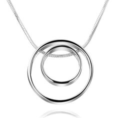Circles Pendant in 925 Sterling silver on a sterling silver chain