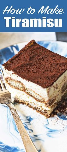 Here's how to make a classic tiramisu, step-by-step. Made with whipped egg yolks, sugar, rum, mascarpone, and whipped cream, layered with coffee-dipped ladyfingers. Great make-ahead dessert for Christmas, Thanksgiving, and holiday parties. #tiramisu #holidayparty #dessert #italian